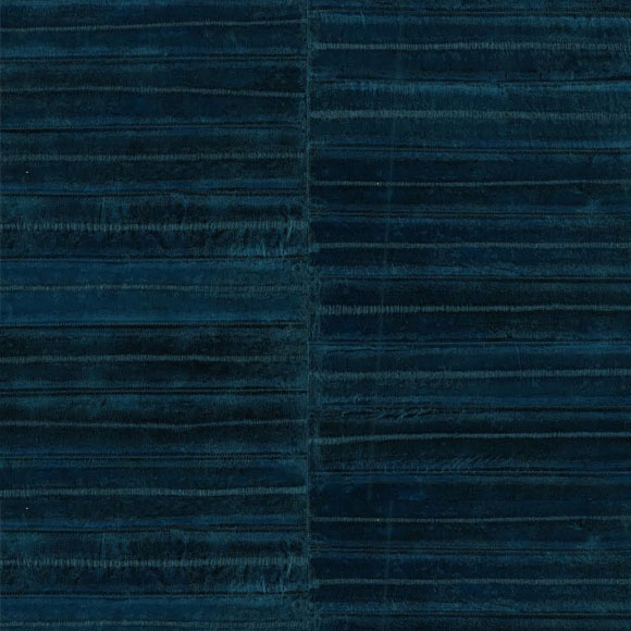 Papier peint bleu motif peau d 39 anguille elitis au fil des couleurs - Papier peint anguille ...