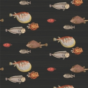 Papier peint - Cole and Son - Acquario - Black & multi-colour