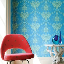 Papier peint - Anna French - Damask - Pink and Green