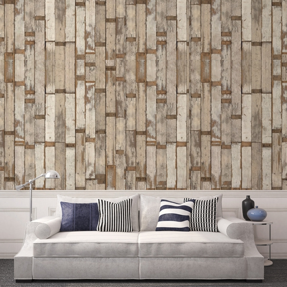 papier peint imitation bois scrapwood nlxl by arte au fil des couleurs. Black Bedroom Furniture Sets. Home Design Ideas
