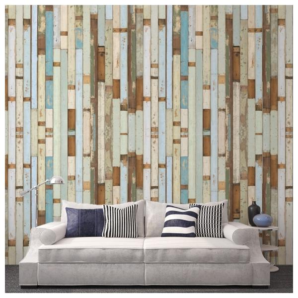 Papier peint imitation bois color scrapwood nlxl by for Papier peint facon bois