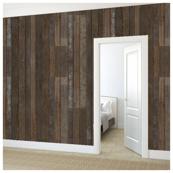 papier peint imitation vieux bois scrapwood nlxl by arte au fil des couleurs. Black Bedroom Furniture Sets. Home Design Ideas