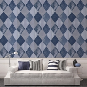 Papier peint - Tapet Cafe - Harlequin - Blue