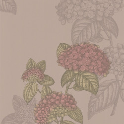 Papier peint - Cole and Son - Ortensia - Taupe & Gold