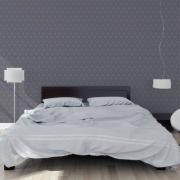 Papier peint - Cole and Son - Hicks Hexagon - Dark Grey & Bronze
