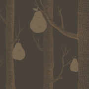 Papier peint - Cole and Son - Woods and Pears - Charcoal & Bronze