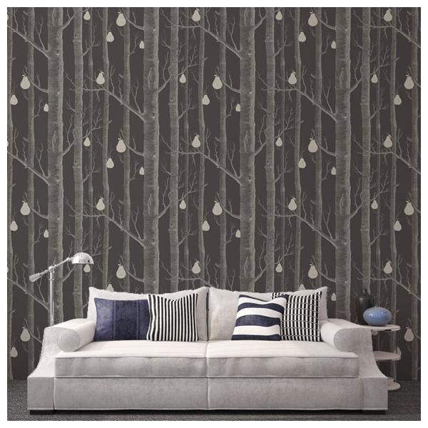 papier peint for t gris woods pears cole and son au. Black Bedroom Furniture Sets. Home Design Ideas