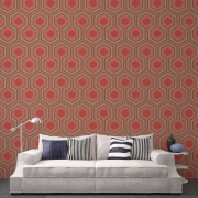 Papier peint - Cole and Son - Hicks Grand - Red