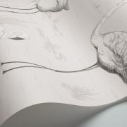 Papier peint - Cole and Son - Flamingos - Charcoal & White