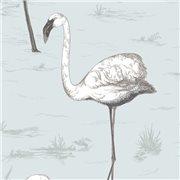 Papier peint - Cole and Son - Flamingos - Charcoal & Aqua