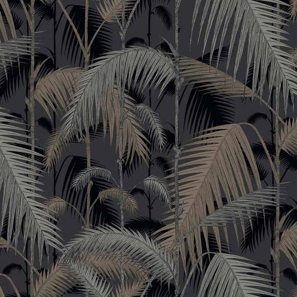 papier peint jungle noir palm jungle cole and son au fil des couleurs. Black Bedroom Furniture Sets. Home Design Ideas