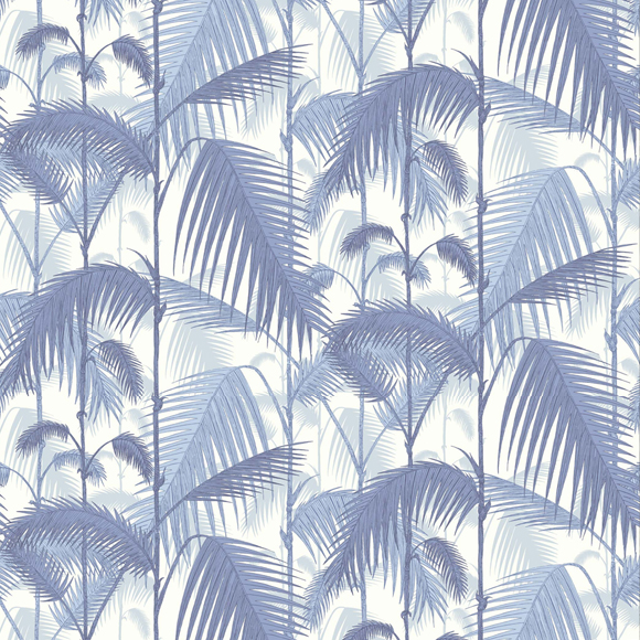 papier peint bleu feuillage exotique palm jungle cole and son au fil des couleurs. Black Bedroom Furniture Sets. Home Design Ideas