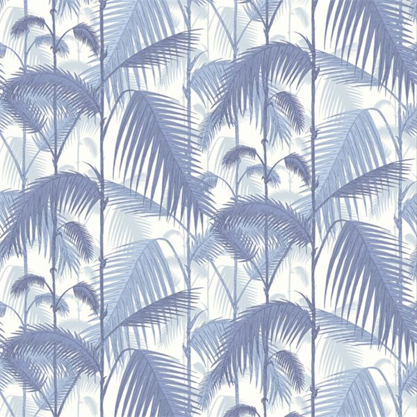 papier peint bleu feuillage exotique palm jungle cole. Black Bedroom Furniture Sets. Home Design Ideas