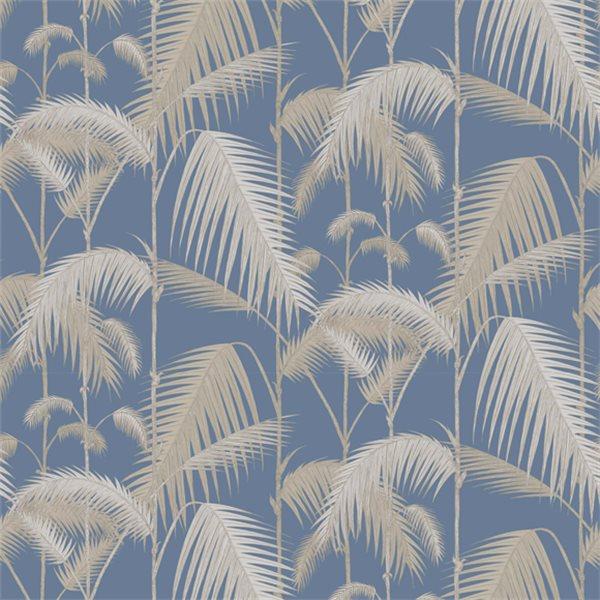 papier peint jungle bleu palm jungle cole and son au fil des couleurs. Black Bedroom Furniture Sets. Home Design Ideas