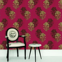 Papier peint - Cole and Son - Pansee - Red Gold & Brown