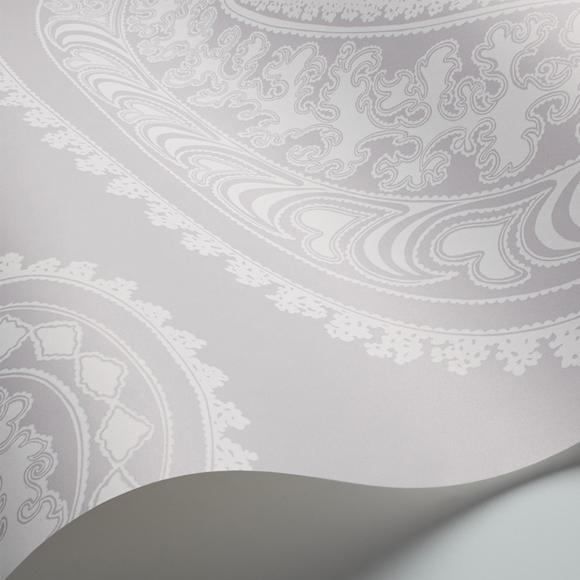 Papier peint oriental gris rajapur cole and son au fil - Au fil des couleurs papiers peints ...
