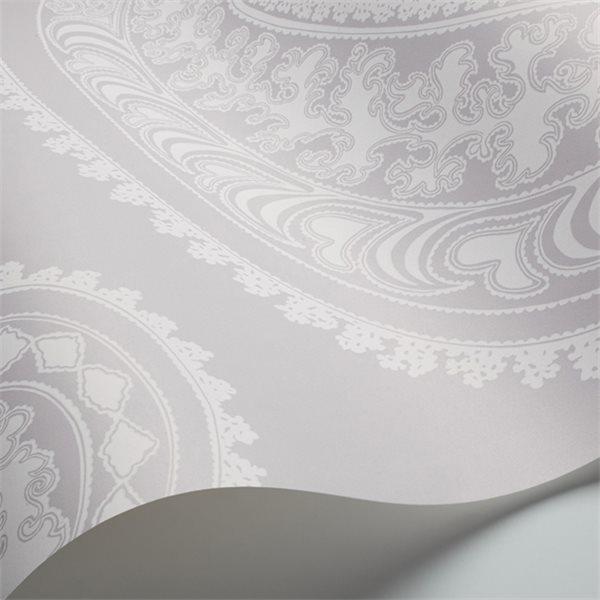 papier peint oriental gris rajapur cole and son au fil. Black Bedroom Furniture Sets. Home Design Ideas