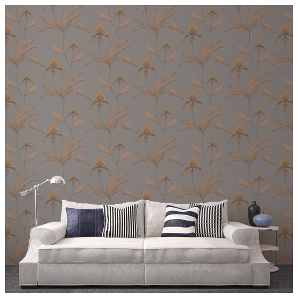 papier peint jungle taupe orchid cole and son au fil des couleurs. Black Bedroom Furniture Sets. Home Design Ideas