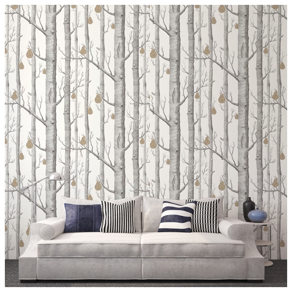 papier peint woods pears for t noire blanche et poire dor e. Black Bedroom Furniture Sets. Home Design Ideas