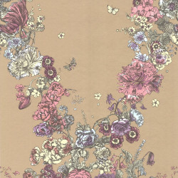 Papier peint - Cole and Son - Fiori - Gold Pink & Blue