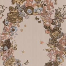 Papier peint - Cole and Son - Fiori - Taupe Brown & Black