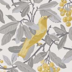 Papier peint - Cole and Son - Royal Garden - Grey & Yellow
