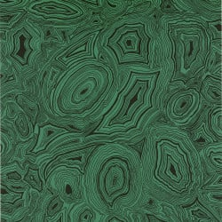 Papier peint - Cole and Son - Malachite - Green & Black