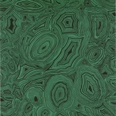 Papier peint - Cole and Son - Malachite - Green & Black