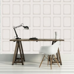 Papier peint - Cole and Son - Library Panel - White