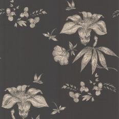 Papier peint - Cole and Son - Primavera - Black & Silver