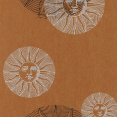 Papier peint - Cole and Son - Il Sole - Bronze Silver & Black