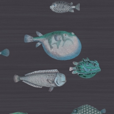 Papier peint - Cole and Son - Acquario - Deep Sea Blue