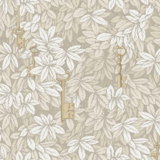 Papier peint - Cole and Son - Chiavi Segrete - Linen & Gold