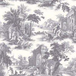 Papier peint - Cole and Son - Villandry - Charcoal