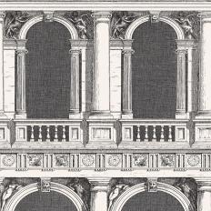 Papier peint - Cole and Son - Procuratie - Black & White