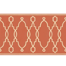 Frise - Cole and Son - Parterre Border - Red