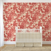Papier peint - Cole and Son - Tivoli - Coral