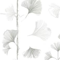 Papier peint - Sandberg - Ginkgo - Light grey
