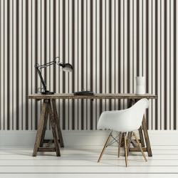 Papier peint - Cole and Son - Cambridge Stripe - Black & White