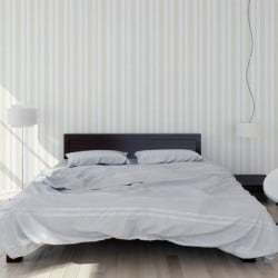 Papier peint - Cole and Son - Cambridge Stripe - White & White