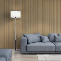 Papier peint - Cole and Son - Edinburgh Stripe  - Sand & Gold