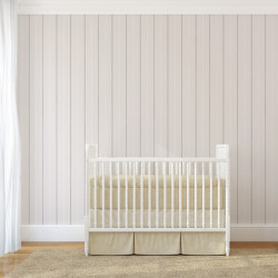 Papier peint - Cole and Son - Epsom Stripe - Silver, Black & White