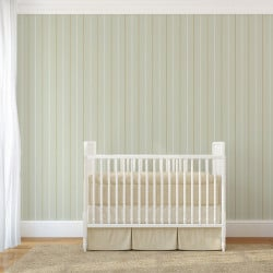 Papier peint - Cole and Son - Epsom Stripe - Olive, White & Gold