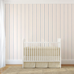 Papier peint - Cole and Son - Epsom Stripe - Ivory & Blue