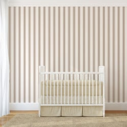 Papier peint - Cole and Son - Pavilion Stripe - White & Mica