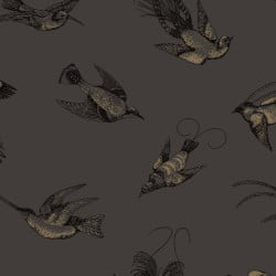 Papier peint - Cole and Son - Tropical Birds - Brown and Gold
