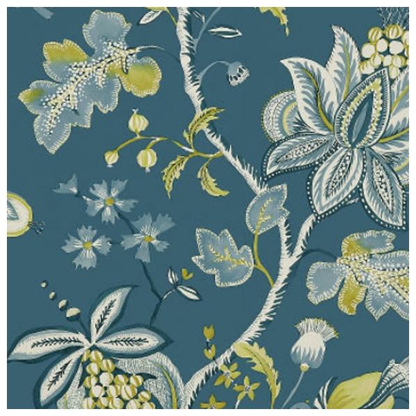 papier peint floral bleu paon donegal. Black Bedroom Furniture Sets. Home Design Ideas