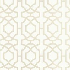 Papier peint - Thibaut - Alston Trellis - White Pearl
