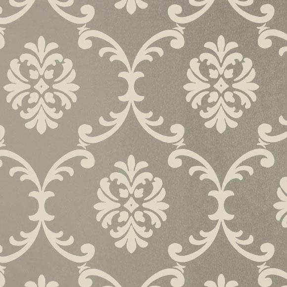 papier peint classique argent et blanc bastille de thibaut. Black Bedroom Furniture Sets. Home Design Ideas