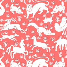 Papier peint - Thibaut - Nairobi - Pink